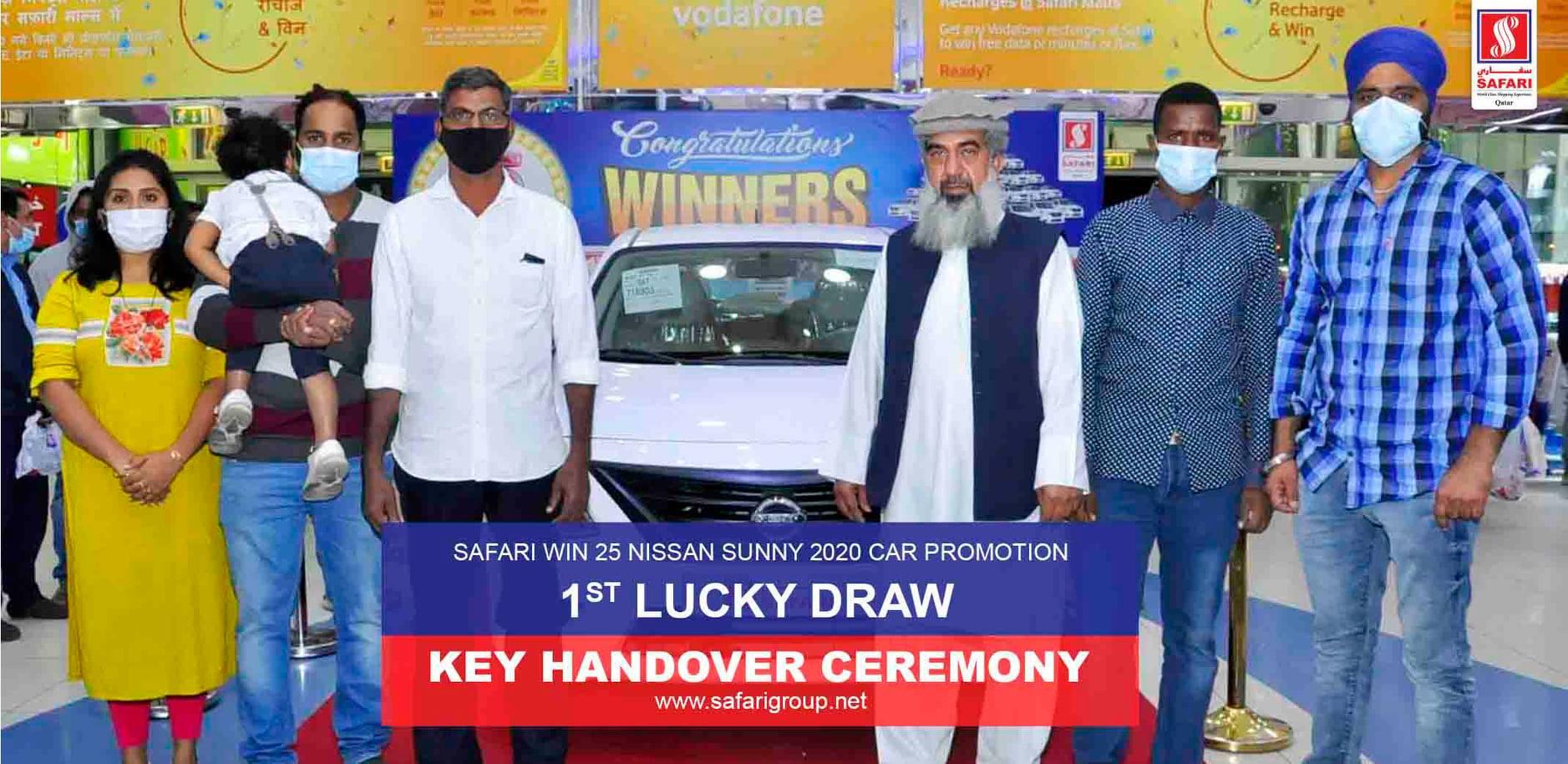 1st lucky draw winners