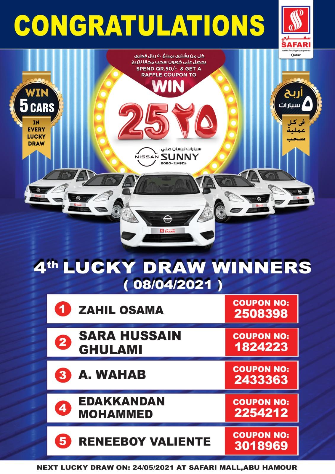4th lucky draw winner