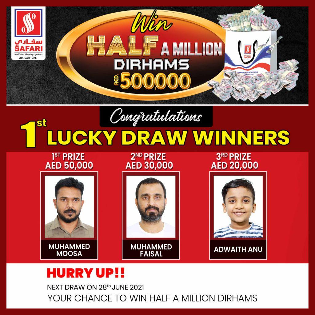 1st draw win hlf million